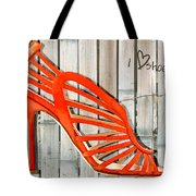 Graffiti Orange Cage Stilettos Tote Bag