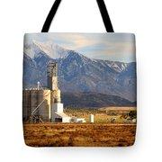 Grain Silo Below Wasatch Range - Utah Tote Bag