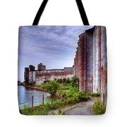 Grain Silos In Summer Tote Bag