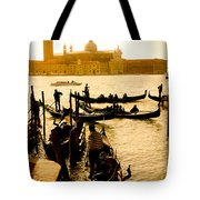 Grand Canal At Sunset - Venice Tote Bag