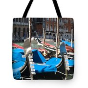 Grand Canal Gondolas Painting Tote Bag