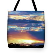 Grand Canyon Sky Over Treetops Tote Bag