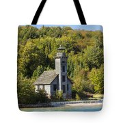 Grand Island E Channel Lighthouse 2 Tote Bag