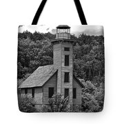 Grand Island Lighthouse Bw Tote Bag