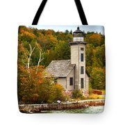 Grand Island Lighthouse No.1442 Tote Bag