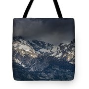 Grand Tetons Immersed In Clouds Tote Bag