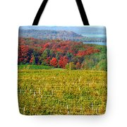 Grand Traverse Winery In Autumn Tote Bag