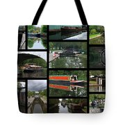 Grand Union Canal Collage Tote Bag