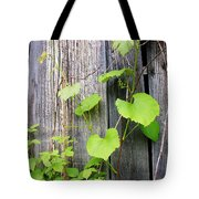 Grape Vines On An Old Barn Tote Bag
