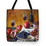Grapes And Pomgranates Tote Bag