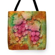 Grapes With Rust Background Tote Bag