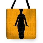 Graphic Chaplin Tote Bag by Andrew Fare