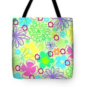 Graphic Flowers Tote Bag