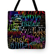 Graphic Music Tote Bag