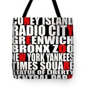 Graphic New York 3 Tote Bag