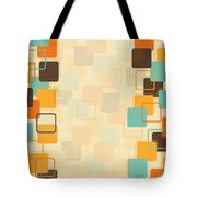 Graphic Square Pattern Tote Bag