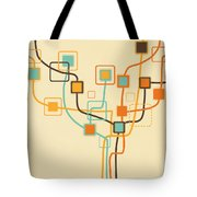 Graphic Tree Pattern Tote Bag