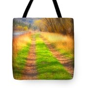 Grass And Shadows Tote Bag