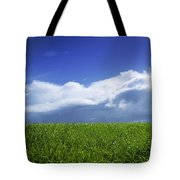 Grass In A Field, Ireland Tote Bag