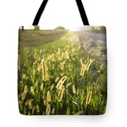 Grasses On A Nebraska Farm Tote Bag