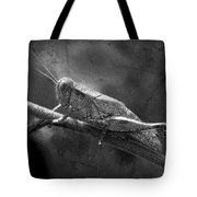 Grasshopper And Grunge In Black And White Tote Bag
