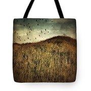 Grassy Hill Birds In Flight Tote Bag