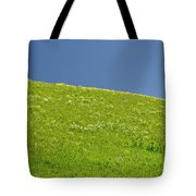 Grassy Slope View Tote Bag
