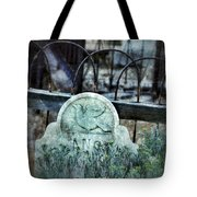 Gravestone With Dove Carved  Tote Bag