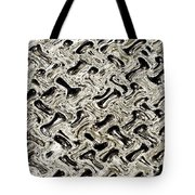 Gray Abstract Swirls Tote Bag