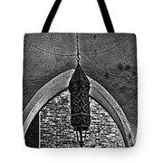 Grayscale Lantern Tote Bag
