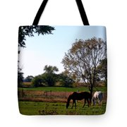 Grazing Horses Tote Bag