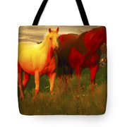 Grazing In The Late Evening Light Tote Bag