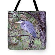 Great Blue Heron - Happy Place Tote Bag