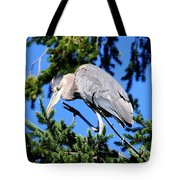 Great Blue Heron Concentration Tote Bag