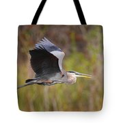 Great Blue Heron In Flight II Tote Bag