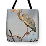 Great Blue Heron In Habitat Tote Bag