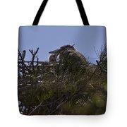 Great Blue Heron In Nest Tote Bag