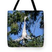 Great Blue Heron Meditation Pacific Northwest Tote Bag
