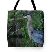 Great Blue Heron Painterly Tote Bag