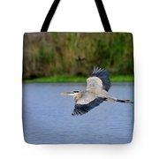Great Blue Heron Soaring Tote Bag