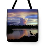 Great Blue Heron Sunset Tote Bag