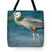 Great Blue Heron With Catch Tote Bag