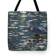 Great Blue Heron With Snack Tote Bag
