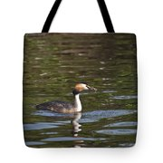 Great Crested Grebe With Breakfast Tote Bag