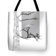 Great Egret - Gnarled Tree Tote Bag