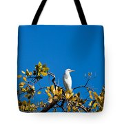 Great Egret On Watch Tote Bag