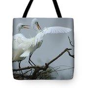 Great Egret Pair Tote Bag