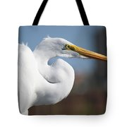 Great Egret Portrait Tote Bag