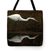 Great Egret Reflection 2 Tote Bag