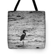 Great Grey Heron Silhouette Tote Bag